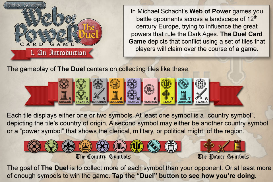 Screenshot Michael Schacht's Web of Power Card Game: The Duel